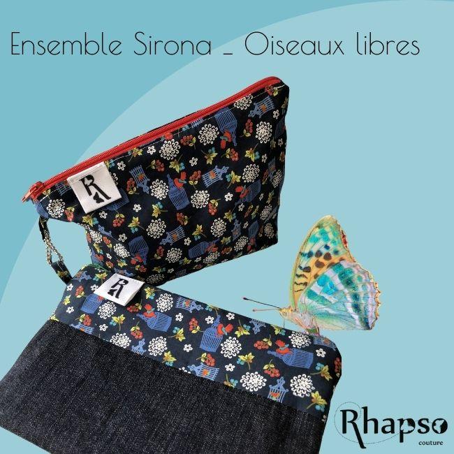 Rhapso Couture, trousse Sirona pour ranger les masques propres et les masques sales