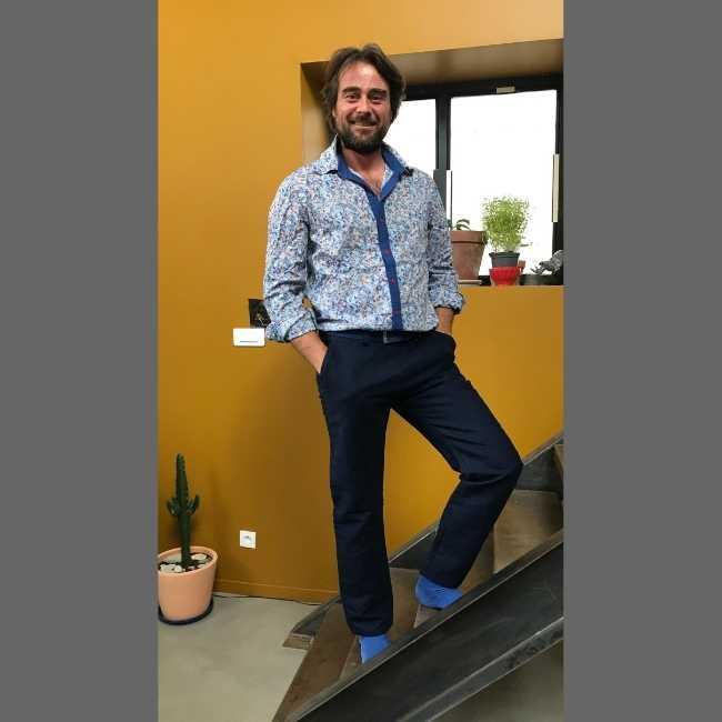 Rhapso Couture, chemise et pantalon chez Thomas