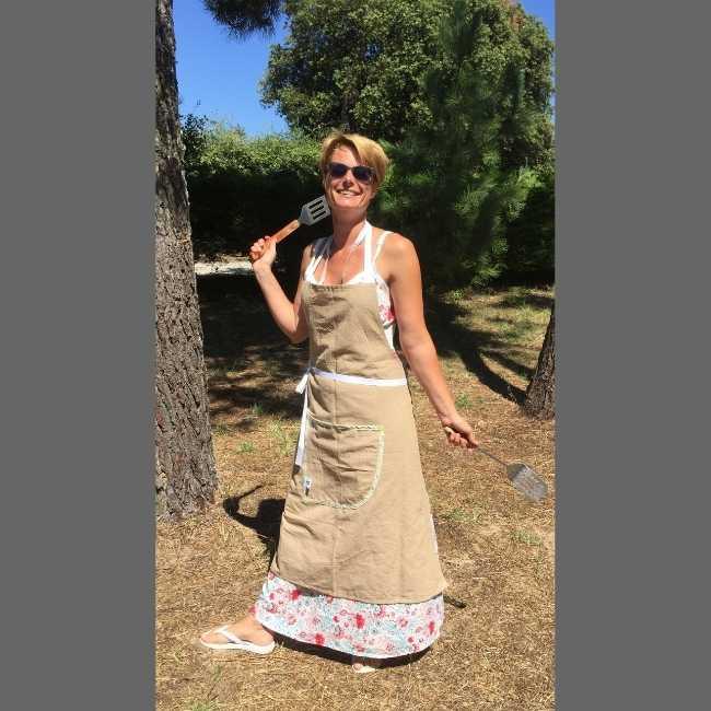 Rhapso Couture, tablier de cuisine chez moi